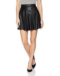 BCBGeneration - Black Faux Leather Skirt - Lyst
