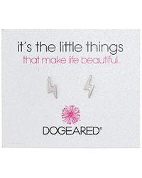 Dogeared Metallic It's The Little Things Lightening Bolt Post Earrings
