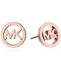 Michael Kors - Metallic Logo Haute Hardware Mk Logo Stud Earrings - Lyst
