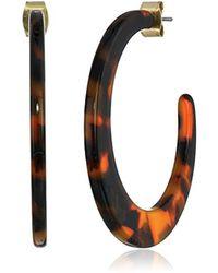 Lucky Brand - Metallic S Tortoise Hoop Earrings - Lyst