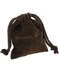 Michael Kors - Metallic Acetate Logo Plaque Pendant Necklace - Lyst