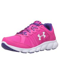 Under Armour - Pink Grade School Micro G Assert 6 Sneaker for Men - Lyst