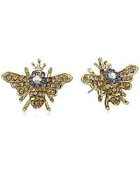 "Betsey Johnson - Multicolor ""queen Bee"" Stud Earrings - Lyst"