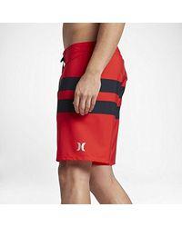 "Hurley Red Phantom Stretch 18"" Stripe Boardshort for men"