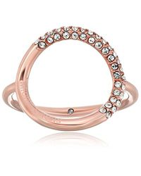 Michael Kors - Multicolor Brilliance Banded Circle Ring - Lyst