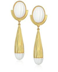 Trina Turk - Metallic Beveled Cab Drop Earrings - Lyst