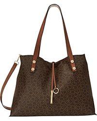 CALVIN KLEIN 205W39NYC - Brown Reversible E/w Logo Tote Bag - Lyst