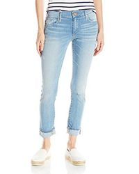True Religion - Blue Liv Low Rise Relaxed Skinny In Sea Glass - Lyst