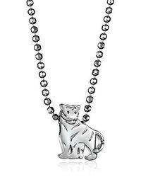 Alex Woo - Metallic Little Signs Animals Tiger Pendant Necklace - Lyst
