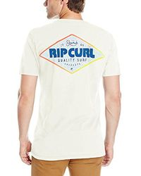 Rip Curl White Retro Mama Heritage T-shirt, for men