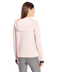 Calvin Klein - Pink Performance Scuba Outline Logo Hoodie - Lyst