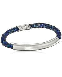 """Kenneth Cole - Blue """"shiny Silver Items"""" Silver Bar With Mesh Tube Bracelet - Lyst"""