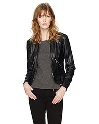 Guess - Black Long Sleeve Kate Flirty Pu Jacket - Lyst