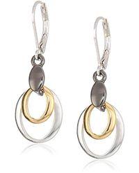 Nine West - Metallic Tri-tone Drop Earrings, Size 0 - Lyst