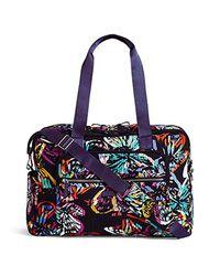 Vera Bradley. Women s Blue Iconic Deluxe Weekender Travel Bag ... c81e67e99d727
