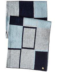 Anne Klein - Gray Ak Oversized Jacquard Geometric Scarf - Lyst