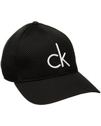 c38ce340fd2 Lyst - CALVIN KLEIN 205W39NYC Mesh Baseball Dad Hat in Black for Men
