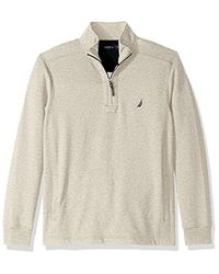 Nautica - Natural Quarter-zip Fleece Sweatshirt for Men - Lyst