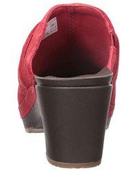 Crocs™ - Red Sarah Suede Clog Mule - Lyst
