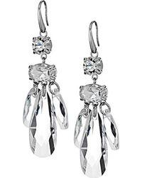 Michael Kors - Metallic S Crystal Statement Drop Earrings - Lyst