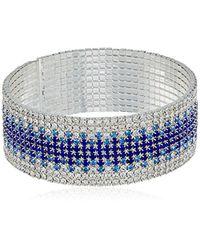 Anne Klein - Blue Ombre Cuff Bracelet - Lyst