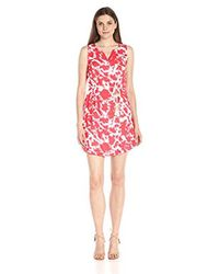 Kensie - Red Tie Dye Printed Dress - Lyst