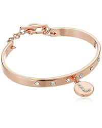 BCBGeneration - Metallic Rose Gold/crystal L Toggle Bracelet - Lyst