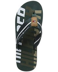 897522278bb933 Tommy Hilfiger   s Bold Beach Sandal Flip Flops in Green for Men - Lyst
