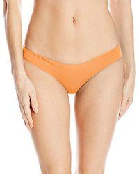 Rip Curl - Orange Classic Surf Aloha Brazilian Coverage Cheeky Swimsuit Bikini Bottom - Lyst