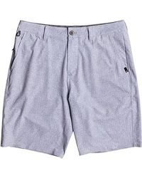 "Quiksilver - Blue Transit Amphibian 20"" Boardshort Walk Shorts, Sleet, 32 for Men - Lyst"