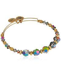 ALEX AND ANI - Metallic Swarovski Crystal Beaded, Mirror Ii Bangle Bracelet- Shiny Gold - Lyst