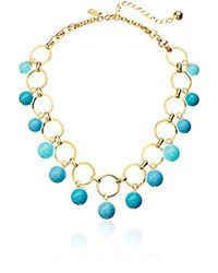 "Kate Spade - Multicolor Statement Necklace, 17"" + 5"" Extender - Lyst"