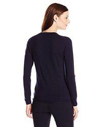 Lacoste - Blue Long Sleeve Cotton Jersey Ottoman Vneck Cardigan - Lyst