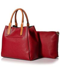SOCIETY NEW YORK - Red Two In One Tote - Lyst