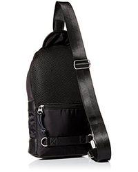 DIESEL - Black Mono Strap Backpack for Men - Lyst