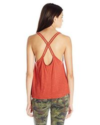 O'neill Sportswear - Red Junior's Shadow Double Spaghett Strap Tank - Lyst