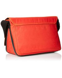 Jack Spade - Red Waxwear Zip Messenger for Men - Lyst