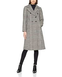 Dorothy Perkins - Red Check Crombie Coat - Lyst