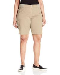 Lee Jeans - Natural Plus Size Relaxed-fit Avey Knit-waist Cargo Bermuda Short - Lyst