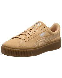 d86efe6c0a84 PUMA Suede Platform Animal Low-top Sneakers Black silver - Lyst