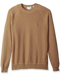 Lacoste Natural Long Sleeve Fancy Stitch Garment Dyed Sweater, Ah4545 for men