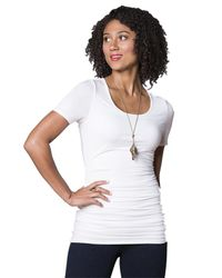Lyssé | Marais Tee With Back Beautiful Technology In White | Lyst