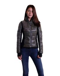 BLANC NOIR   Green Reflective Insert Feather Weight Jacket In Olive   Lyst