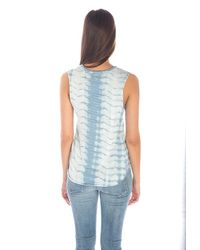 Generation Love - Blue Paige Indigo Bleached Cutoff Tank Top - Lyst