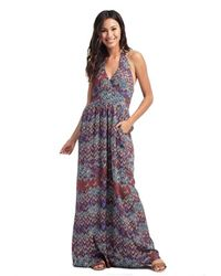 Ella Moss | Multicolor Kaliso Halter Dress In Seaport | Lyst