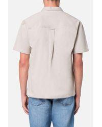 AMI - Natural Short Sleeve Shirt for Men - Lyst