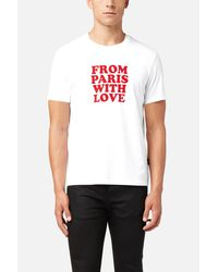 AMI - White From Paris With Love T-shirt for Men - Lyst