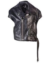 Junya Watanabe | Black Leather Motorcycle Vest | Lyst