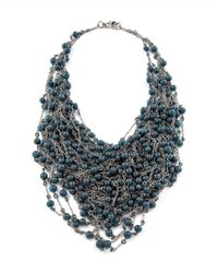 Jean-Francois Mimilla | Green Glass Bead Necklace | Lyst