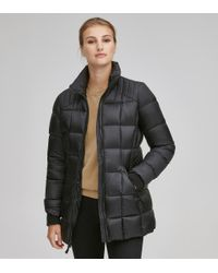 Andrew Marc - Black Maddy Matte Down Puffer Coat - Lyst